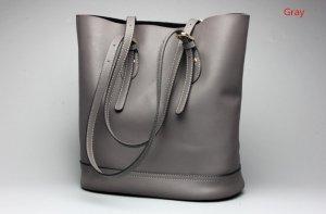 grey leather handbags womens