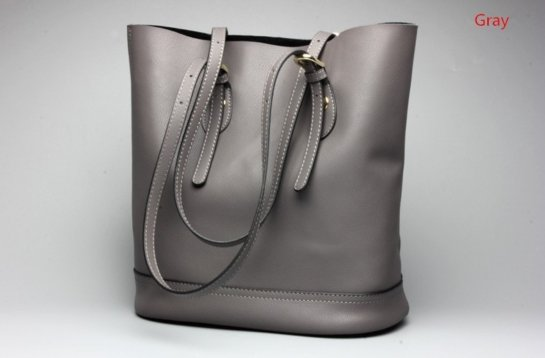 grey leather handbags womens