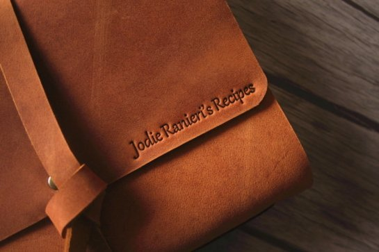 italian lined journal leather