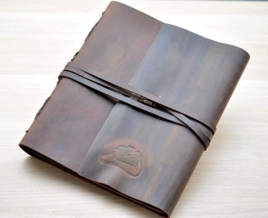 leather albums personalized