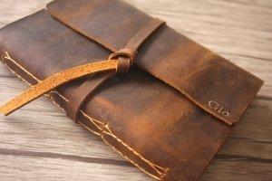 leather cover photo album