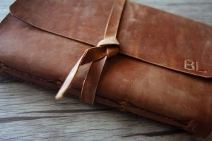 leather custom journals