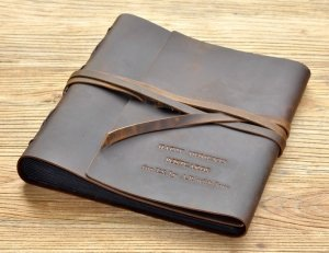 leather photograph albums