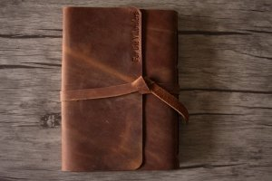 leather photograph albums vintage style