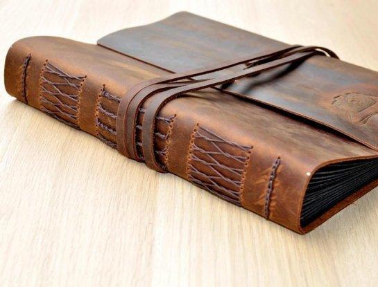 leather scrapbook albums