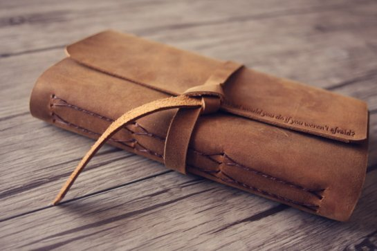 leather vintage journal