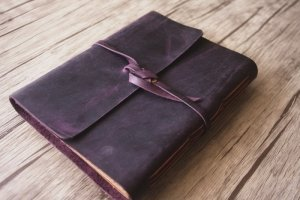 monogrammed leather photo album