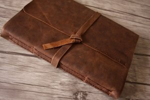monogrammed leather photo albums