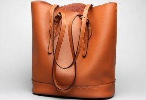 orange tote hand bags