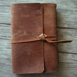 personalized leather bound journal