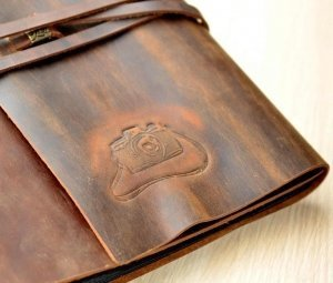 personalized leather bound photo album