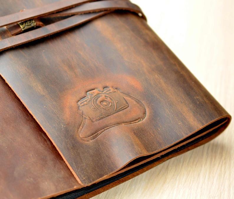 Expectation Custom Leather Scrapbook Albums