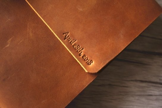 personalized leather bound photo albums