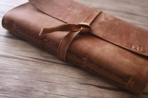 personalized leather bound sketchbook