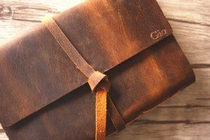 personalized leather photo album cover