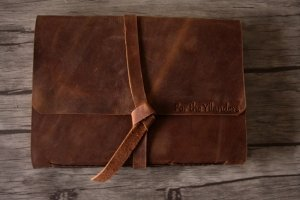personalized leather photograph albums