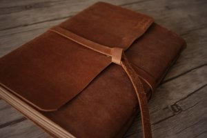personalized leather scrapbook albums
