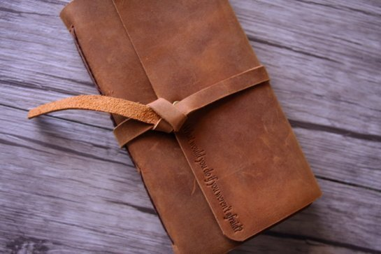 personalized leather vintage journal