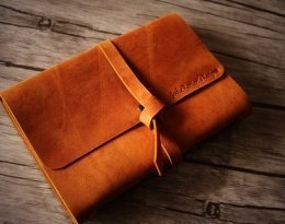 personalized lined leather journal