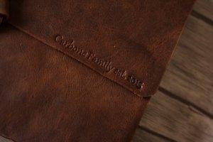 personalized monogrammed leather photo album