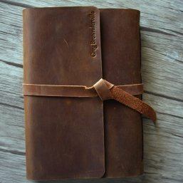 personalized name leather travel journals
