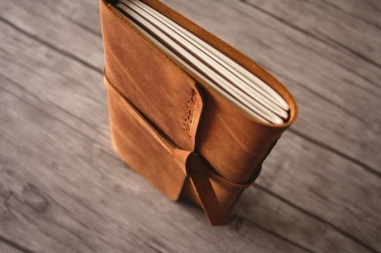 personalized real leather photo album