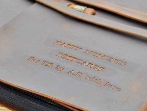 photo album personalized leather