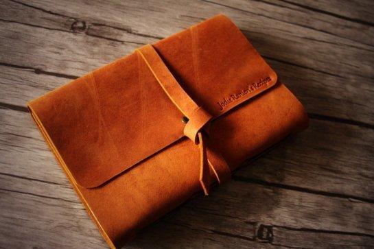 real leather photo album