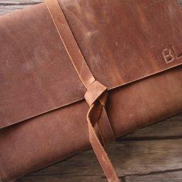 rustic leather cover photo album