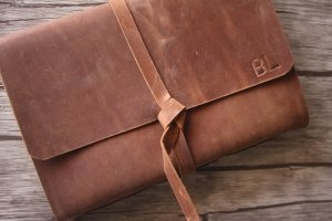 rustic leather cover photo album