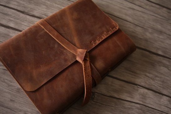 rustic leather photograph albums