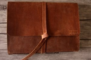 rustic leather scrapbook albums