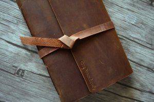 rustic leather travel journals