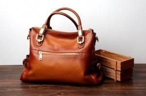 silver genuine leather handbags
