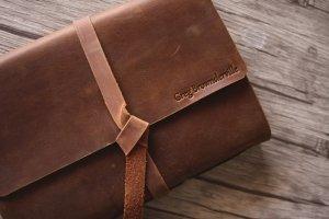travel leather journal custom