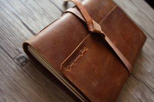 travel leather journal sketchbook
