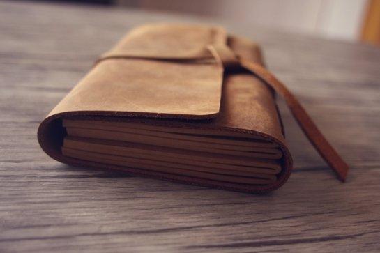 vintage leather bound journal