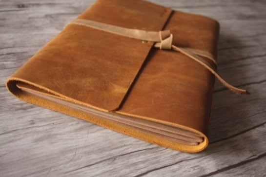 vintage leather bound photo albums