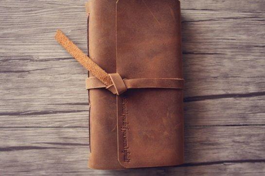 vintage leather journals