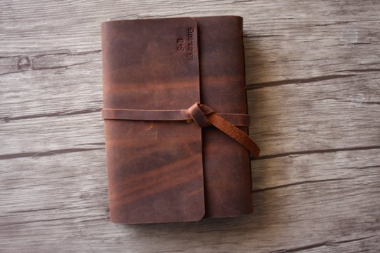 A5 blank leather journal