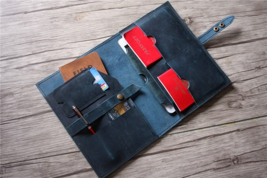 personalized leather folder