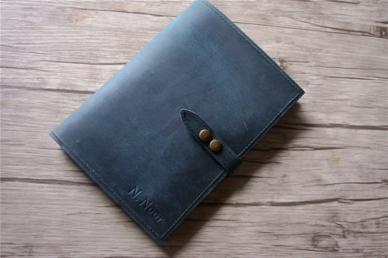 custom leather notebook padfolio cover