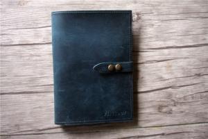 handmade leather padfolio folder