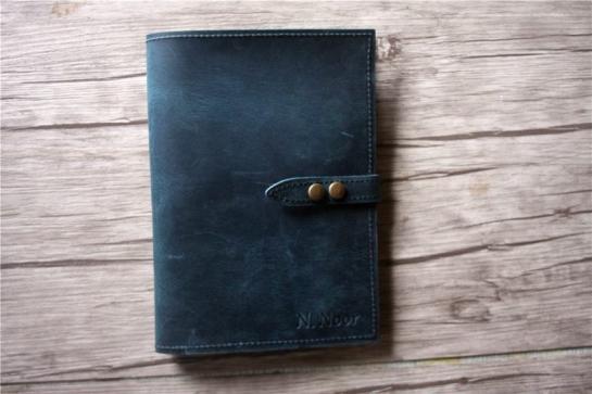 handmade leather padfolio folder