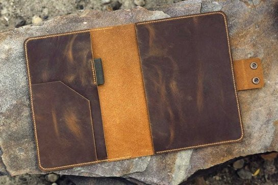 custom embossed leather portfolio