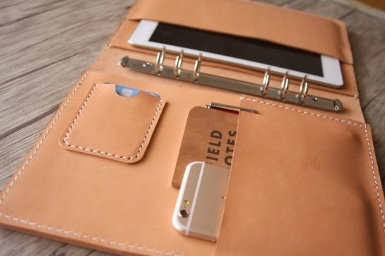 custom leather binders