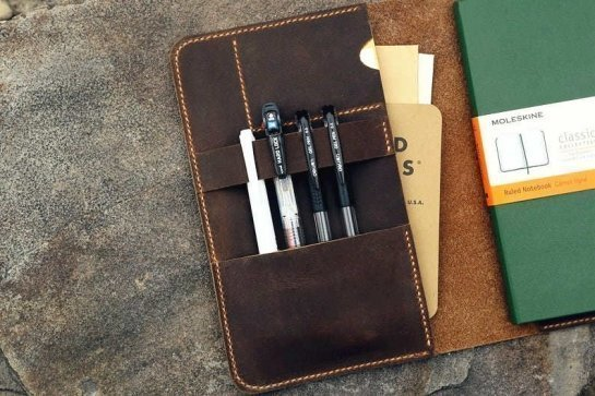 custom leather planner