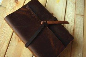 distressed leather custom wedding albums