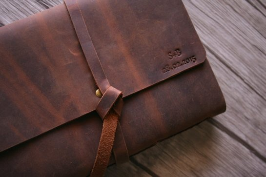 handmade A5 leather notebook