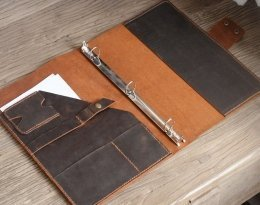 leather binder case